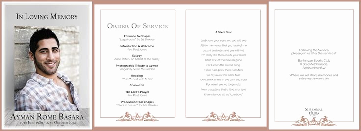 Order Of Service for Funeral Beautiful Professionally Designed Funeral order Of Service Booklets