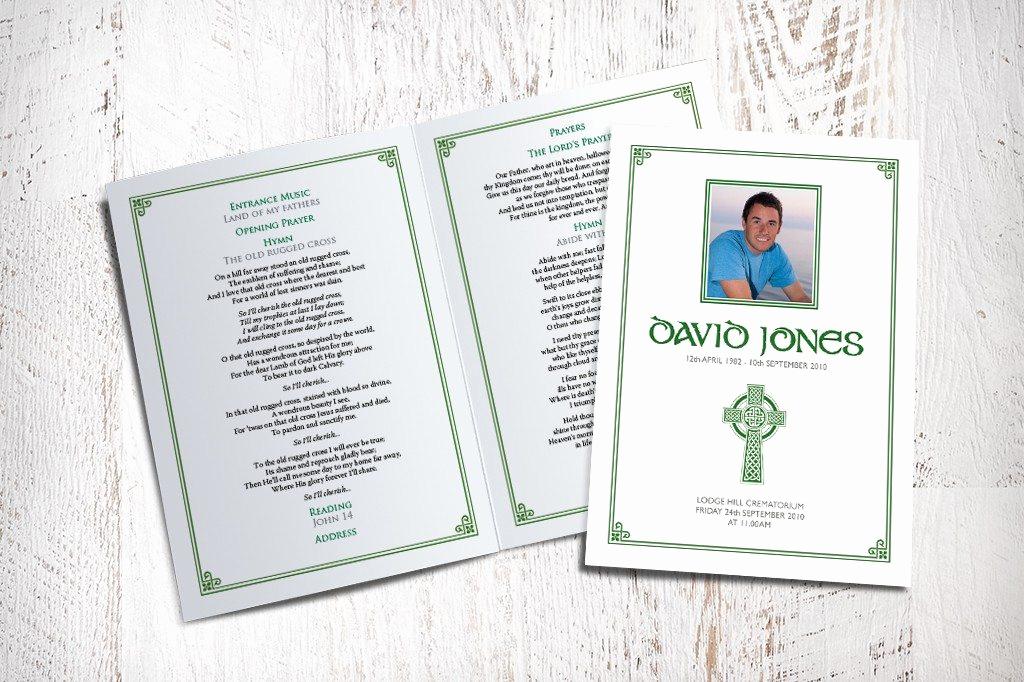 Order Of Service for Funeral Elegant Celtic Cross Funeral order Of Service