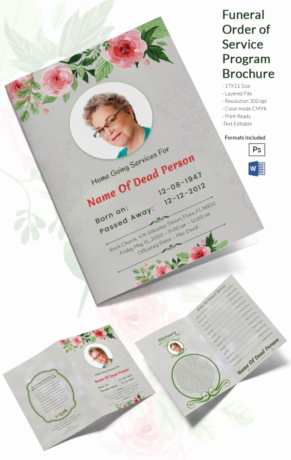 Order Of Service for Funeral Inspirational 31 Funeral Program Templates – Free Word Pdf Psd