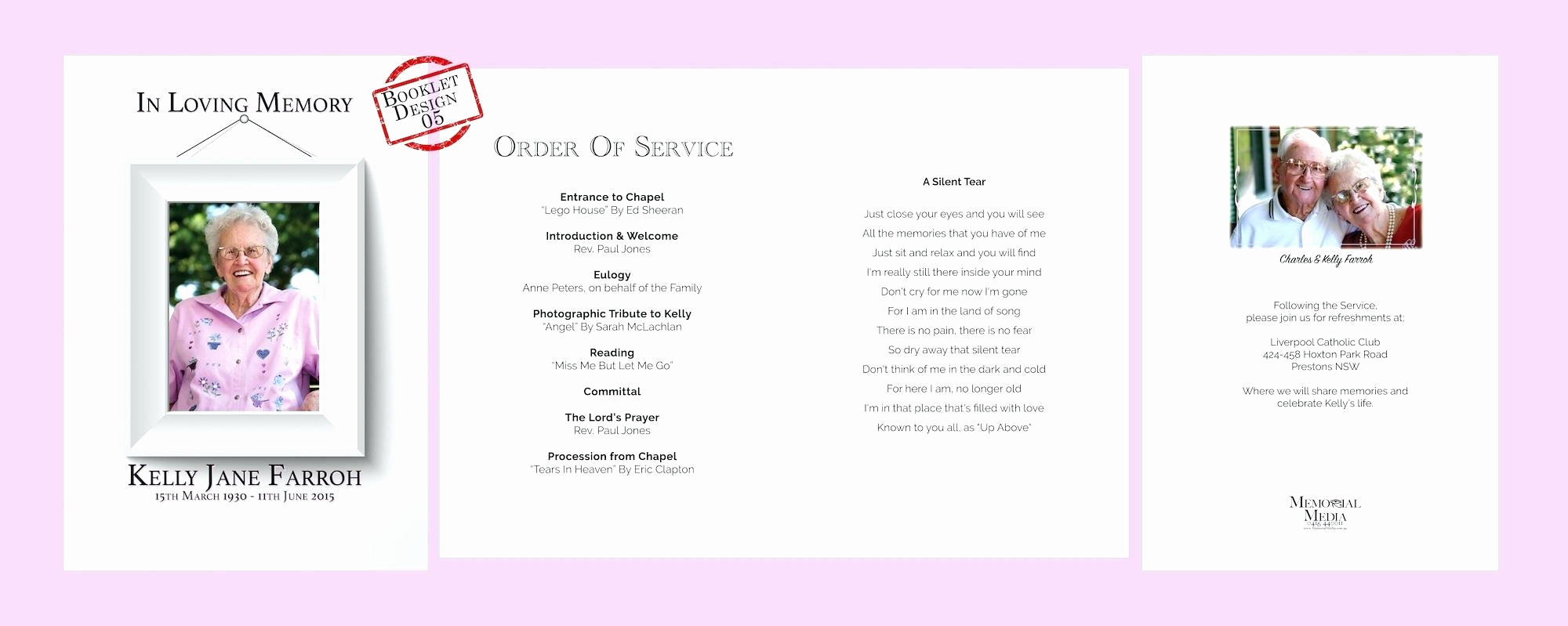 Order Of Service for Funeral Lovely order Service Funeral Template Free Download Letter