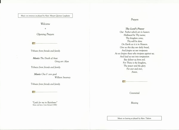 Order Of Service for Funeral New Funeral order Service Template