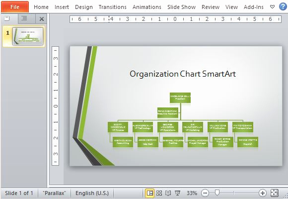 Org Chart Template Word Luxury Widescreen organizational Chart Template for Powerpoint