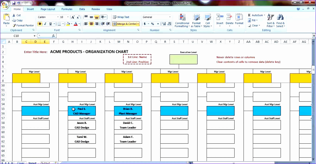 Organization Chart Template Excel Elegant 6 Excel Templates organizational Chart Free Download