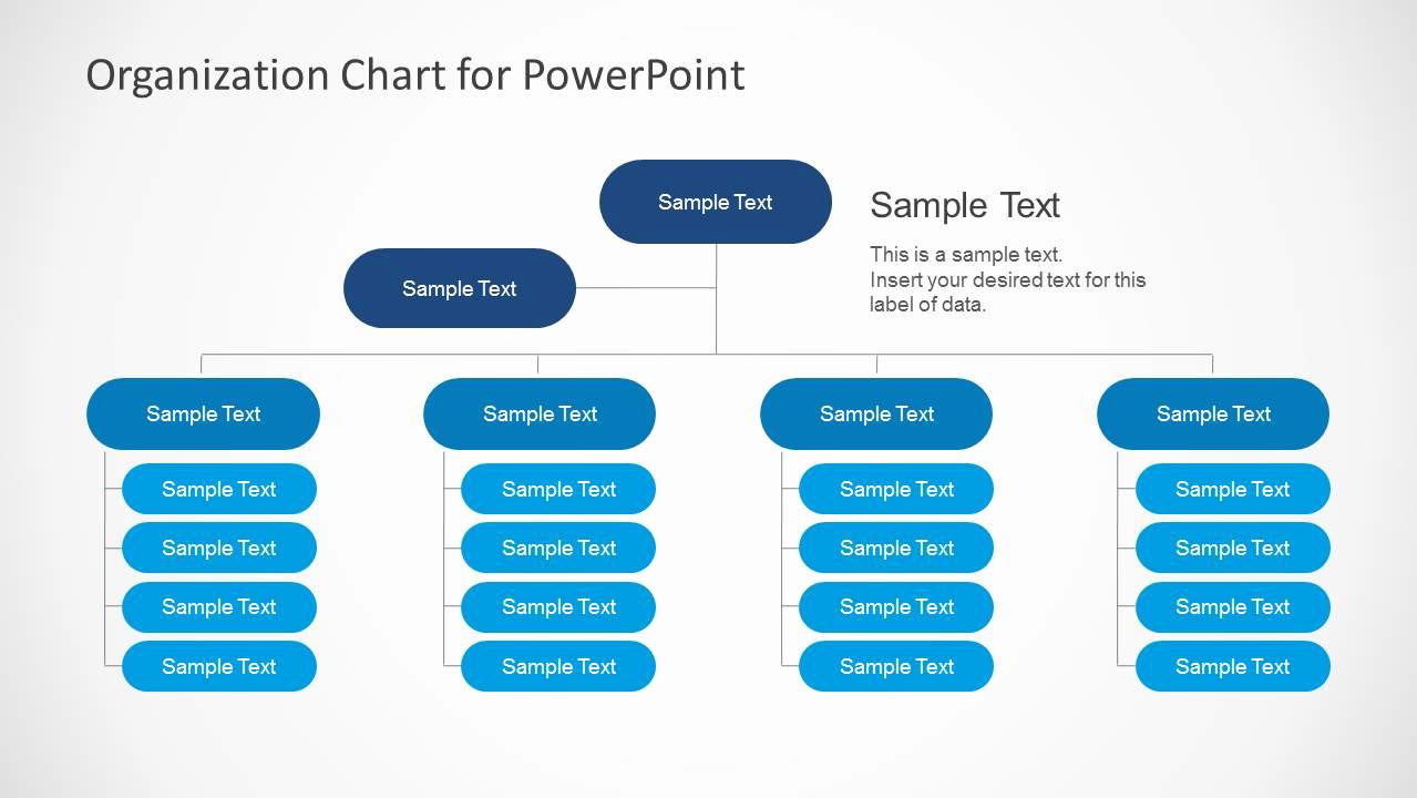 Organizational Chart Template Free Beautiful Simple organizational Chart Template for Powerpoint