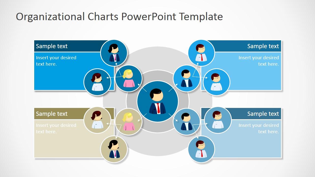 Organizational Chart Template Free Unique Circular organizational Chart for Powerpoint Slidemodel