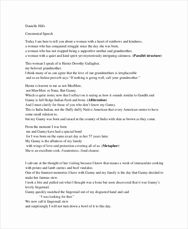 Outline for A Speech Inspirational Sample Speech Outline 8 Documents In Pdf Word