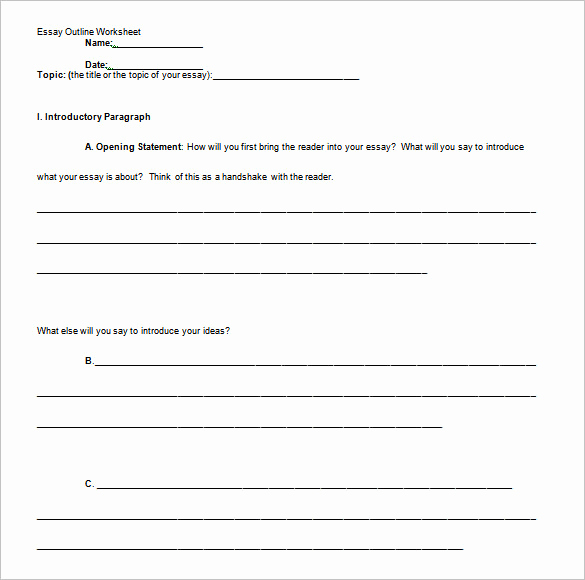 Outline Template for Essay Beautiful Free Professional Essay Outline Template Samples