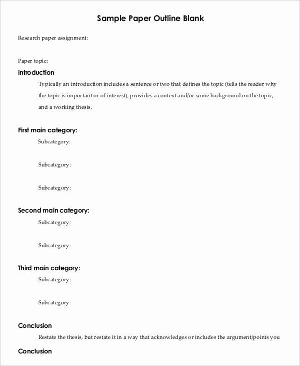 Outline Template for Essay Beautiful Research Paper Outline Template