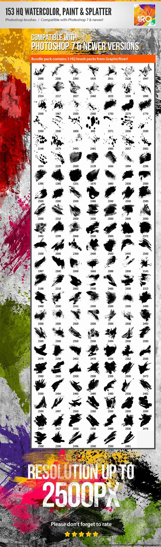 Paint Splatter Brush Photoshop Best Of 110 Best Downloadable Shop Paint Splatter Brushes