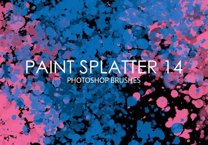 free paint splatter photoshop brushes 14
