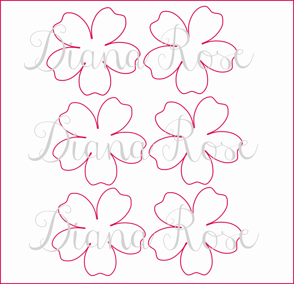 Paper Flower Template Printable Awesome Printable Paper Rose Templates Diy Paper Flowers Printable