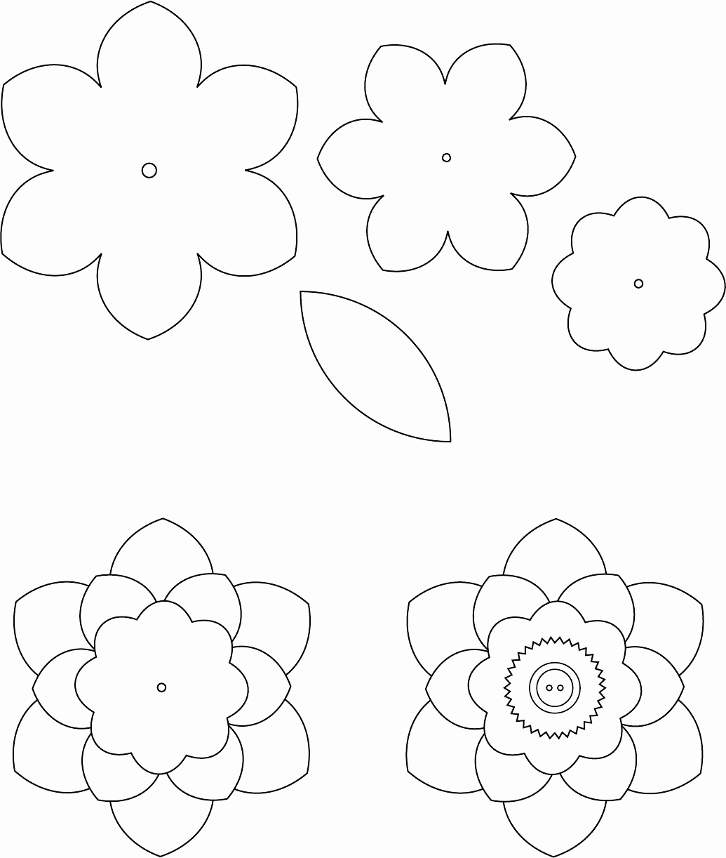 Paper Flower Template Printable Best Of Flower Template 1 трафареты цветы Pinterest