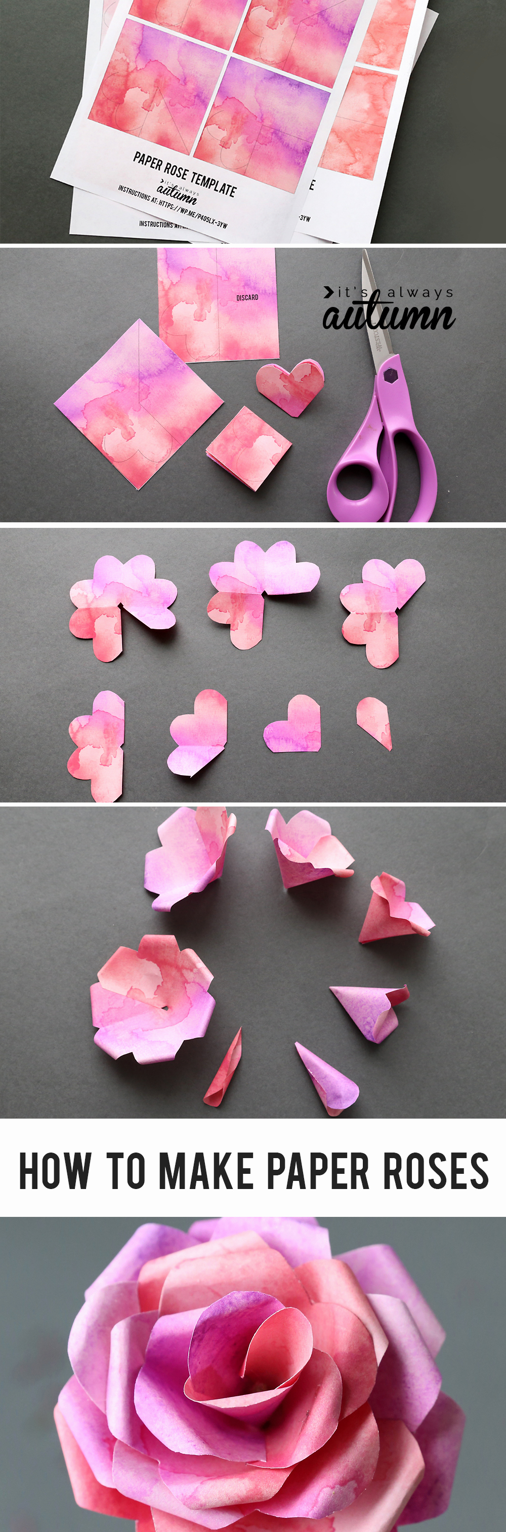 Paper Flower Template Printable Best Of Make Gorgeous Paper Roses with This Free Paper Rose