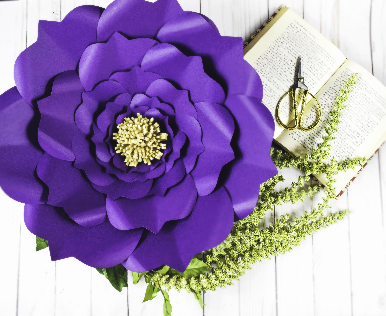 Paper Flower Template Printable Luxury Diy Giant Paper Flower Printable Templates Flower Template