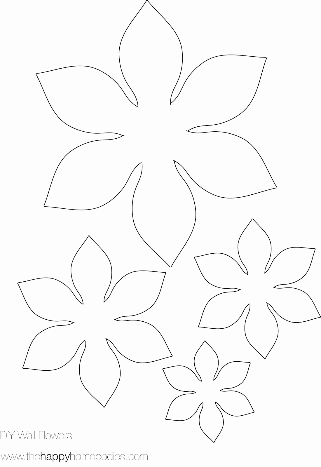 Paper Flower Template Printable Luxury Flower Template On Pinterest