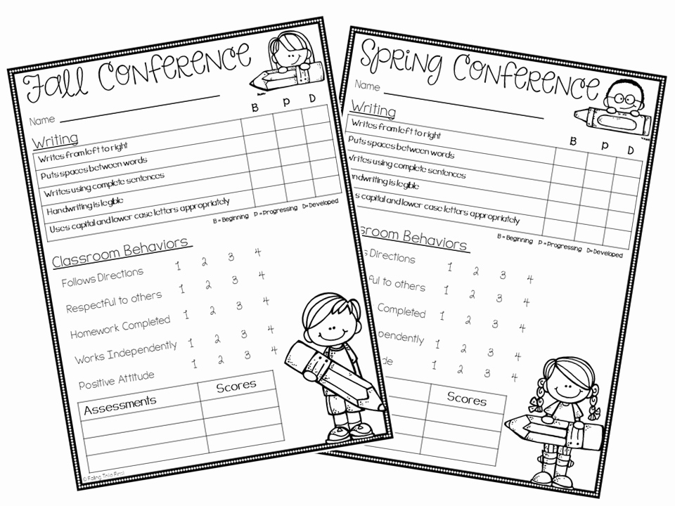 Parent Teacher Conference forms Awesome Parent Teacher Conference forms Free