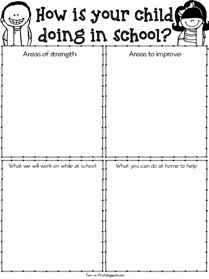 Parent Teacher Conference forms Inspirational Freebielicious Parent Teacher Conference forms