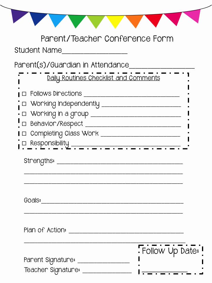 Parent Teacher Conference forms Luxury Mrs Megown S Second Grade Safari Parent Teacher