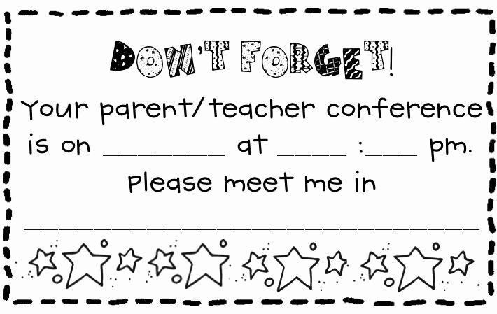 Parent Teacher Conference forms Unique Parent Teacher Conference form