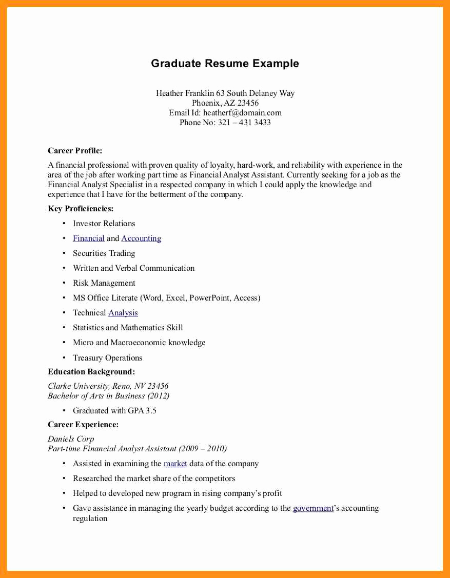 Part Time Job Resume New Objective for Resume First Job