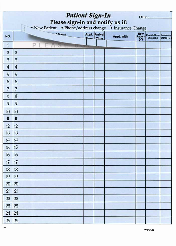 Patient Sign In Sheets Lovely Hipaa Patient Sign In Sheets Health forms & Systems Inc