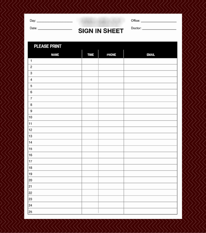 Patient Sign In Sheets New Custom Columns Label Sign In Sheets Printing
