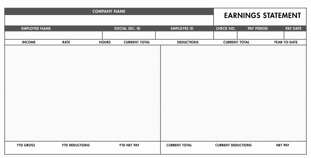 Pay Stub Template Excel Fresh Free Excel Pay Stub