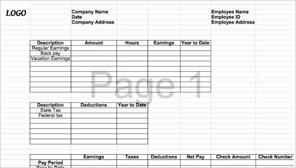 Pay Stub Template Pdf Awesome 62 Free Pay Stub Templates Downloads Word Excel Pdf Doc