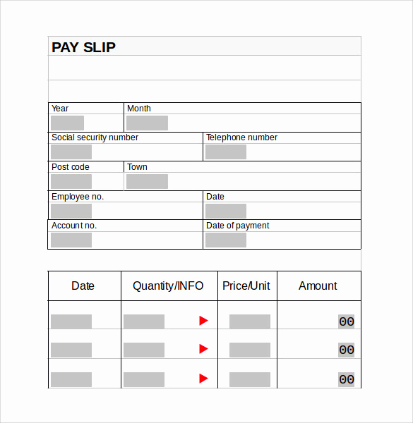 Pay Stub Template Word Elegant Pay Stub Template 15 Download Free Documents In Pdf