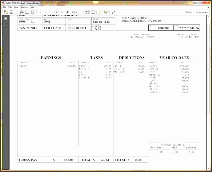 Pay Stub Template Word Inspirational 6 Free Pay Stub Template In Word Sampletemplatess