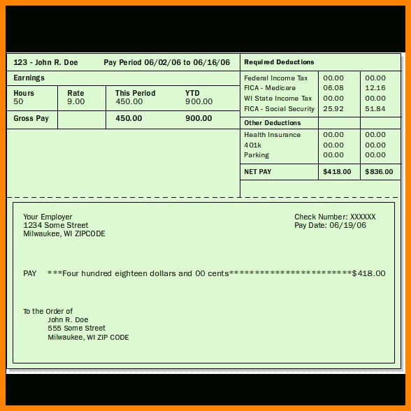Pay Stub Template Word Lovely 6 Blank Pay Stub Template Word