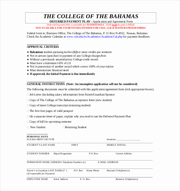 Payment Agreement Contract Pdf Best Of Payment Plan Agreement Template 12 Free Word Pdf