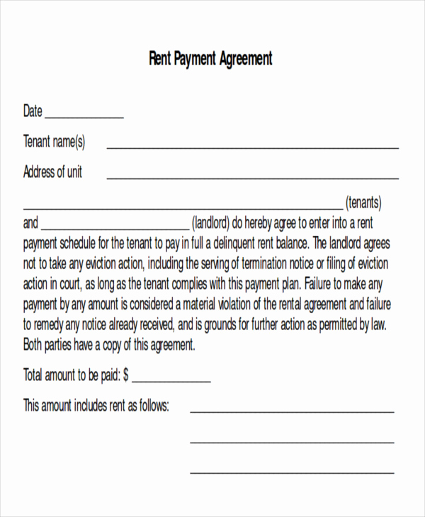 Payment Agreement Contract Pdf New Sample Payment Plan Agreement 10 Examples In Word Pdf