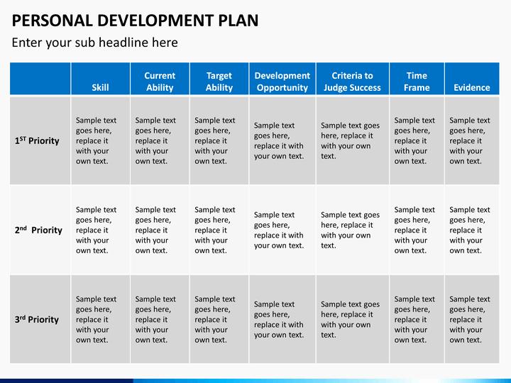 Personal Development Plan Template Beautiful Personal Development Plan Powerpoint Template