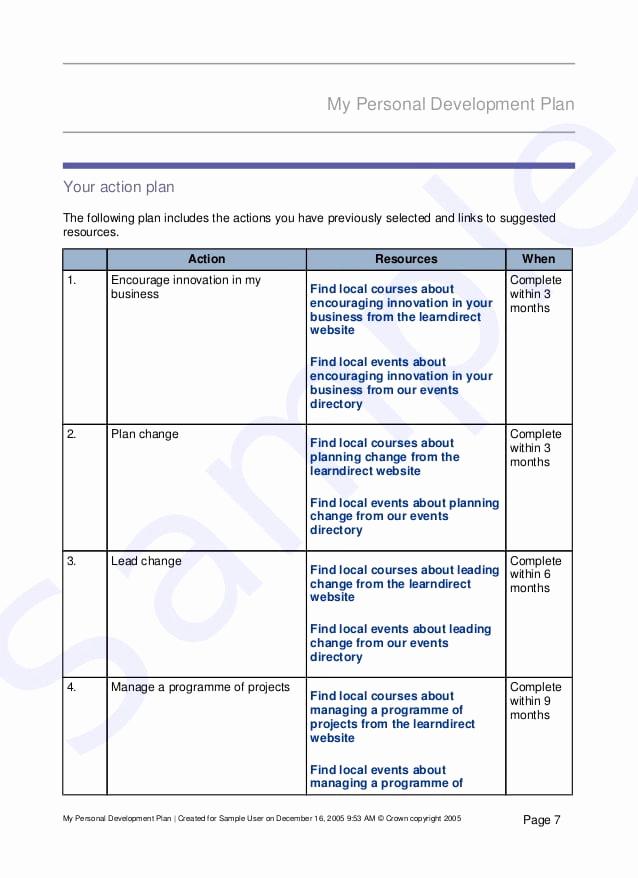 Personal Development Plan Template Fresh top 5 Free Personal Development Plan Templates Word