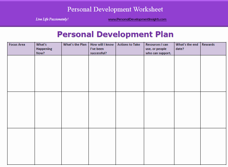 Personal Development Plan Template Inspirational 6 Personal Development Plan Templates Excel Pdf formats