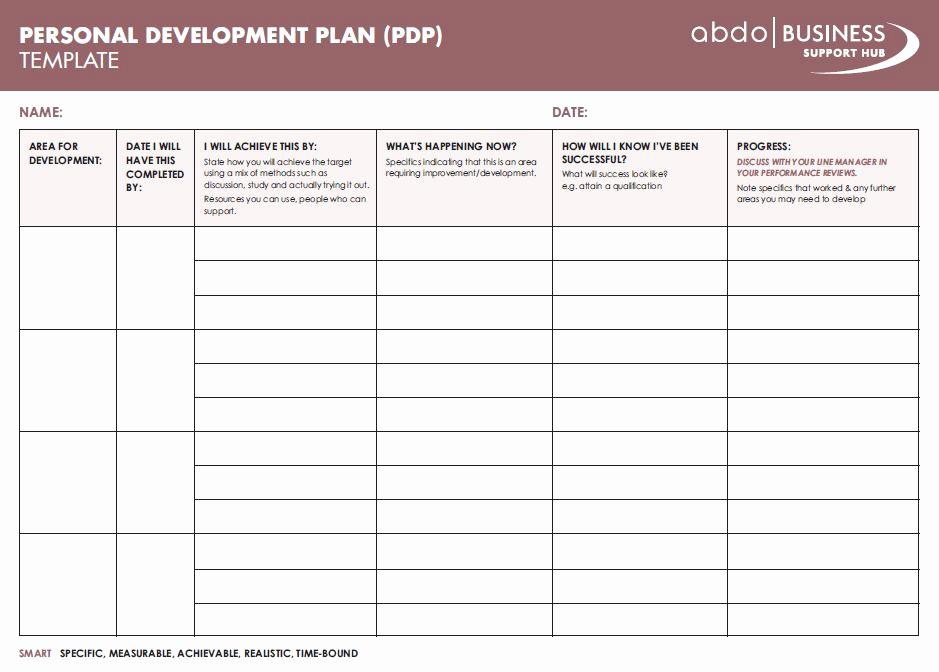 Personal Development Plan Template New Personal Development Plan Template