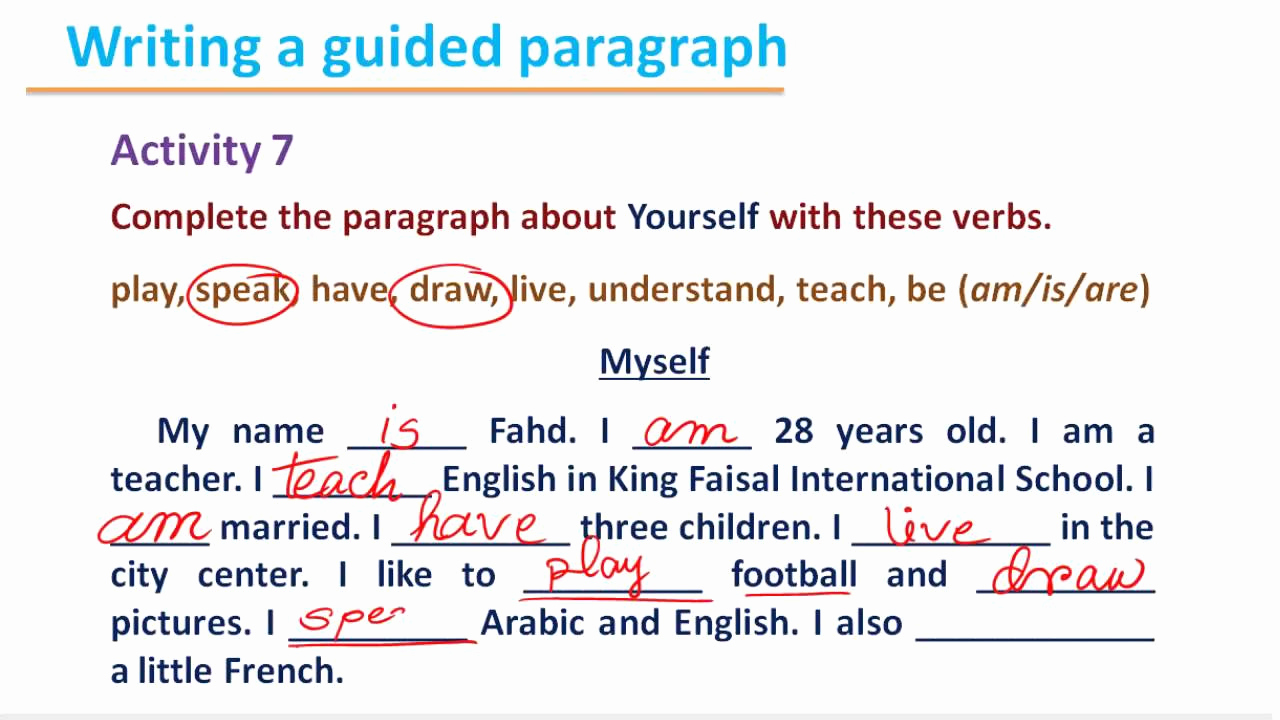 Personal Essay About Yourself Examples Best Of Writing 112 B1 U2 Introducing Yourself 4
