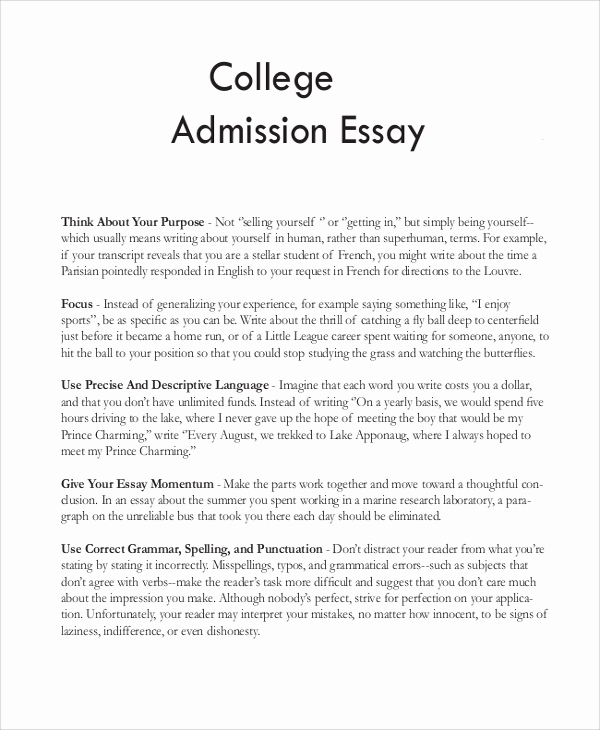 Personal Essay About Yourself Examples Inspirational 8 Sample College Essays
