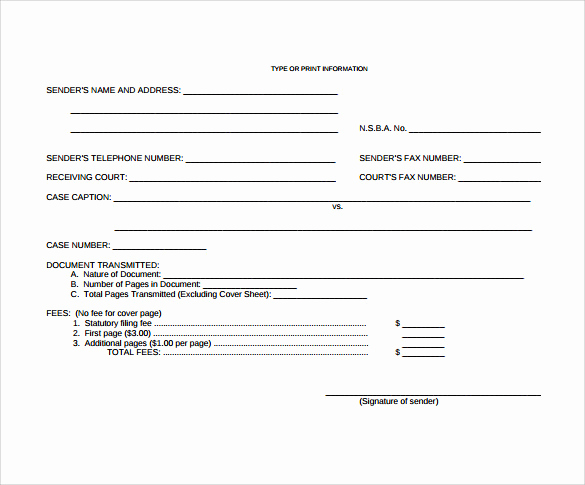 Personal Fax Cover Sheet Elegant 15 Sample Blank Fax Cover Sheets