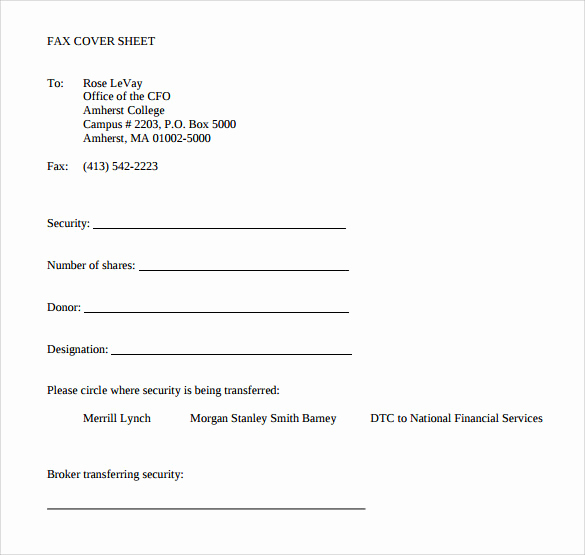 Personal Fax Cover Sheet Luxury 15 Sample Blank Fax Cover Sheets