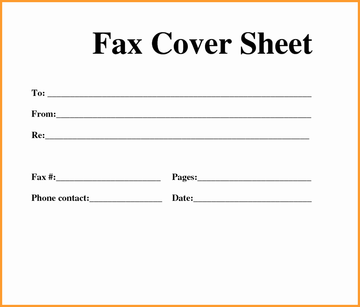 Personal Fax Cover Sheet Luxury Free Fax Template