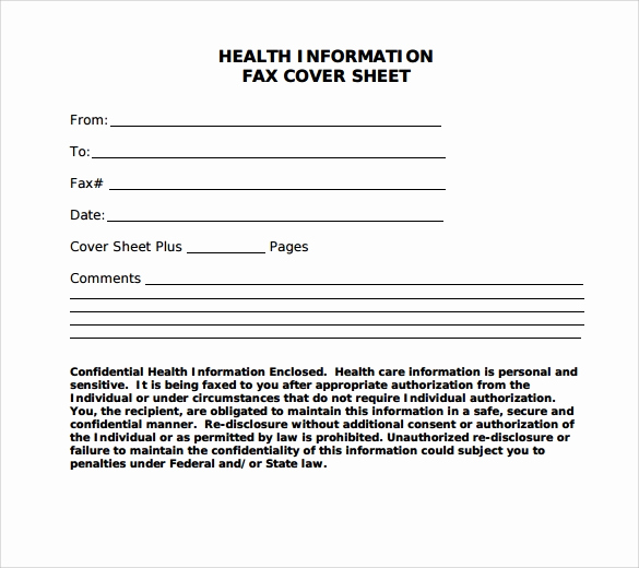 Personal Fax Cover Sheet New 28 Fax Cover Sheet Templates