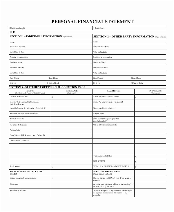 Personal Financial Statement Pdf Best Of 33 Financial Statement Examples & Samples Pdf Word