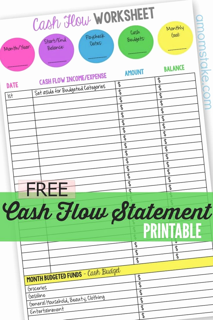 Personal Financial Statement Worksheet Awesome 25 Best Ideas About Cash Flow Statement On Pinterest