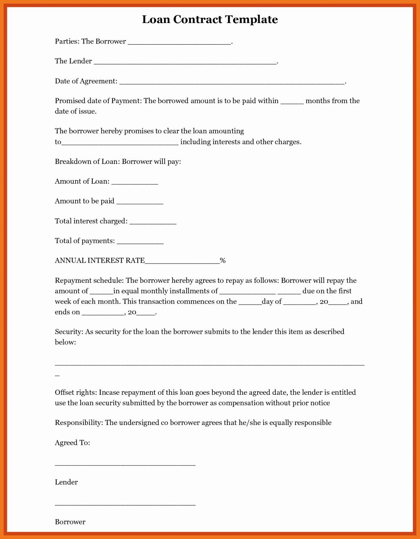 Personal Loan Agreement Between Friends Elegant 9 10 Sample Personal Loan Agreement