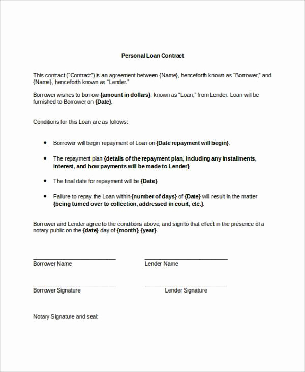 Personal Loan Agreement Between Friends Fresh Vehicle Promissory Note form