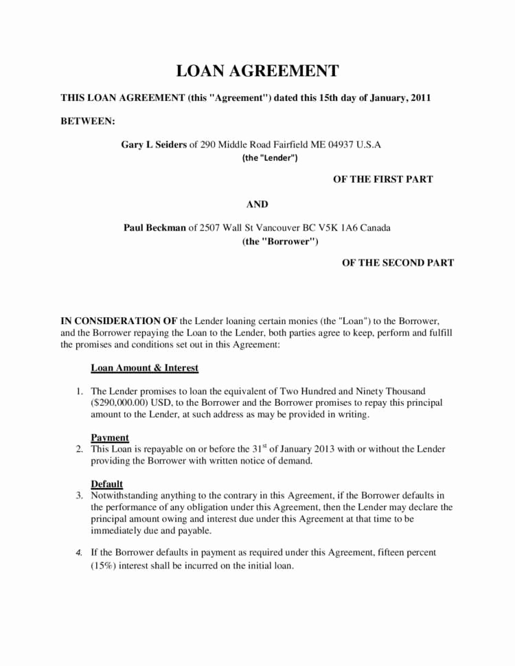 Personal Loan Agreement Between Friends Inspirational 40 Last Loan Agreement Between Friends Le A