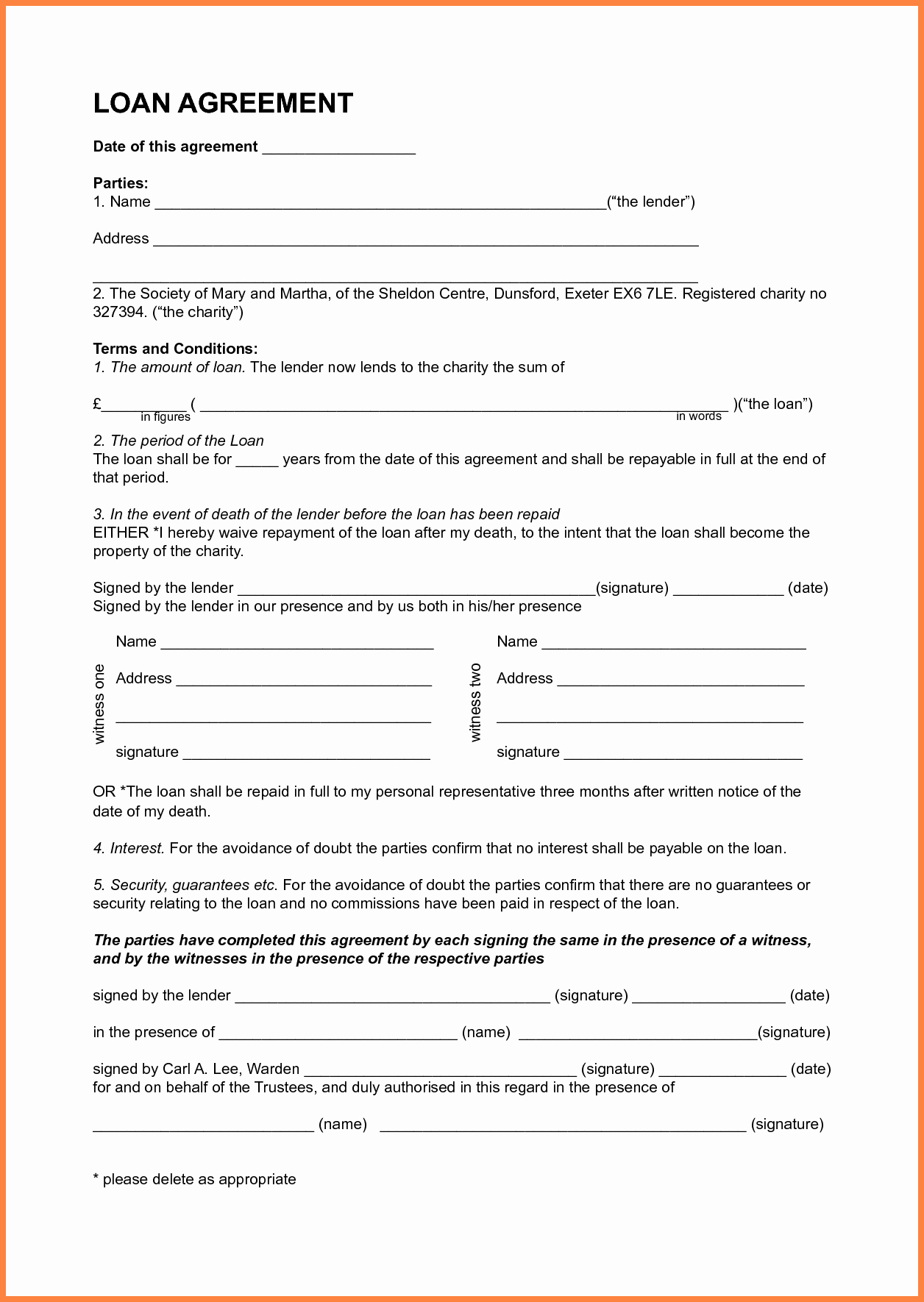 Personal Loan Agreement Between Friends New 6 Sample Personal Loan Agreement Template