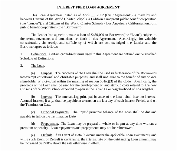Personal Loan Agreement Pdf Best Of 27 Loan Contract Templates – Word Google Docs Apple